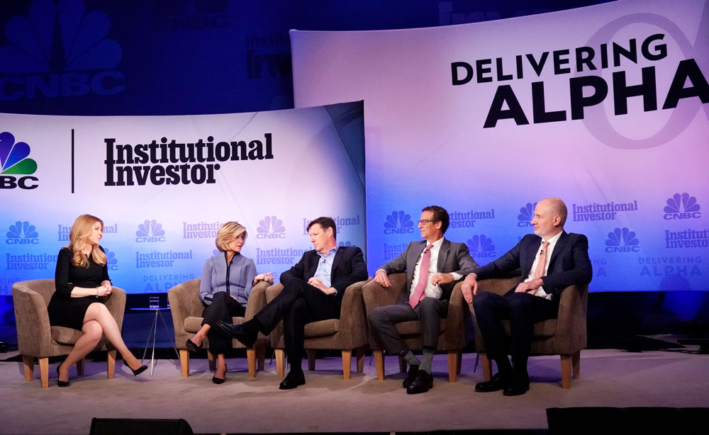"""The """"Where in the World is Alpha?"""" panel at the CNBC Institutional Investor Delivering Alpha conference. (Heidi Gutman/CNBC)"""