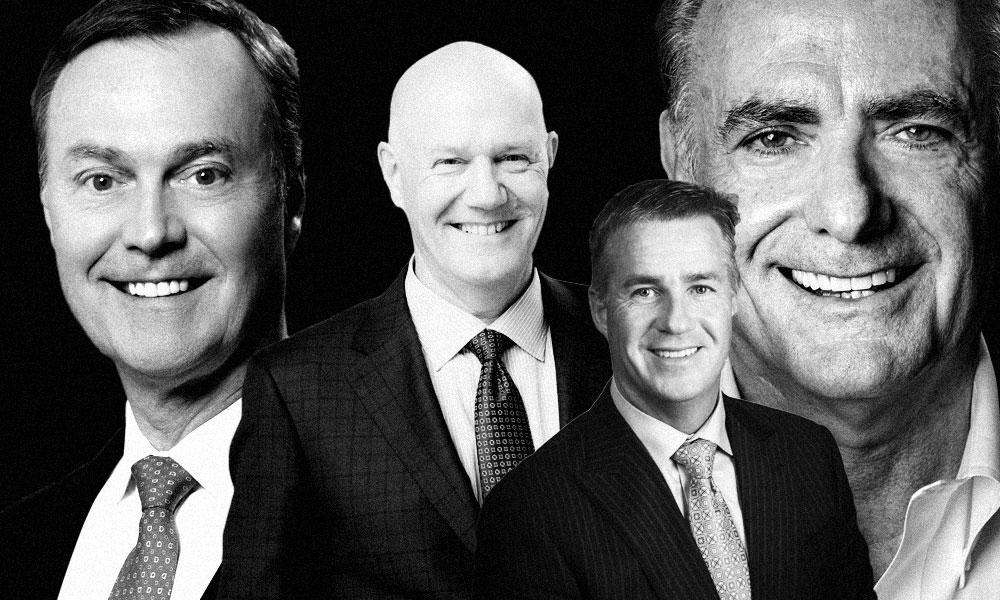Don Lindsay, CEO of Teck Resources; Michael Emory, CEO of Allied; Keith Creel, CEO of Canadian Pacific Railway and Calin Rovinescu, CEO of Air Canada. (courtesy photos)