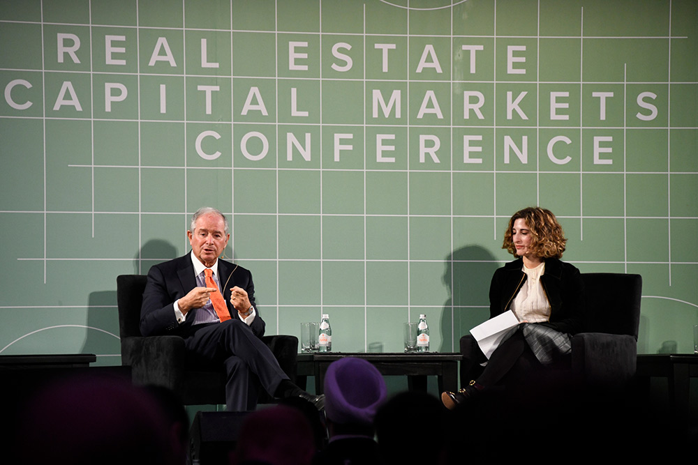 Stephen A. Schwarzman speaks at Goodwin