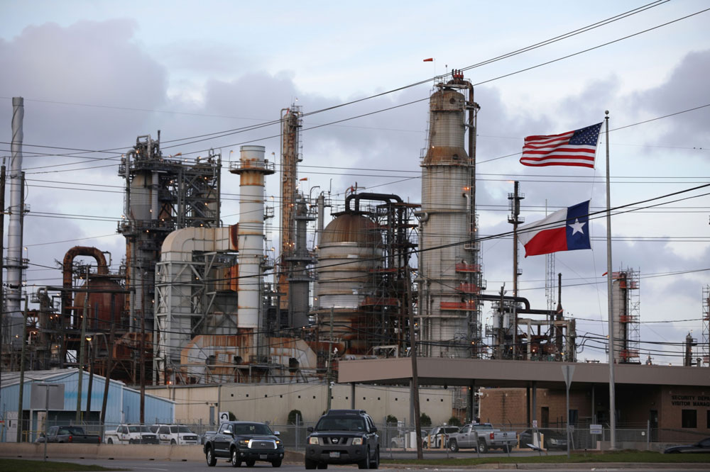 An oil refinery in Pasadena, Texas, U.S. (Sharon Steinmann/Bloomberg)
