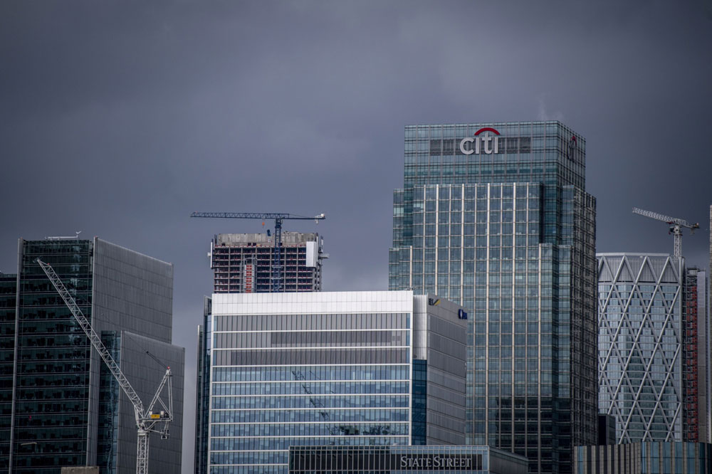 Citigroup offices in London's financial district. (Chris J. Ratcliffe/Bloomberg)