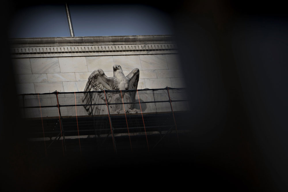 The Federal Reserve building in Washington, D.C. (Andrew Harrer/Bloomberg)