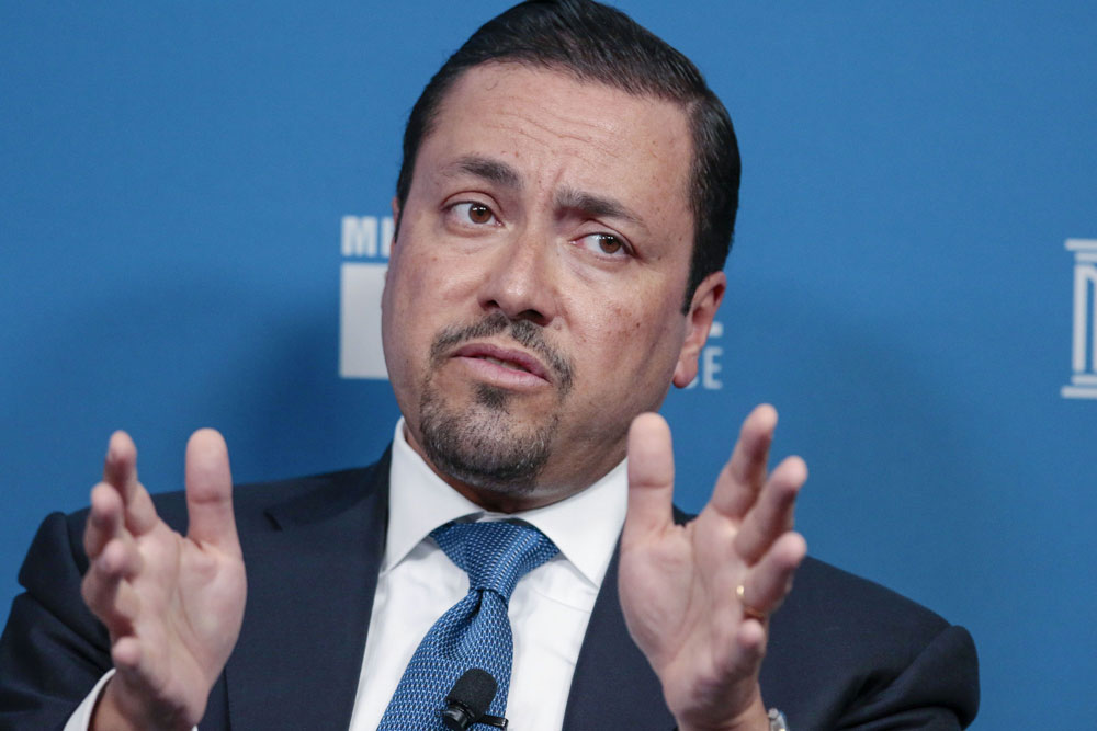 Hazem Ben-Gacem, co-chief executive officer of Investcorp. (Kyle Grillot/Bloomberg)